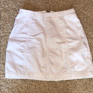 Free People White Jean Skirt